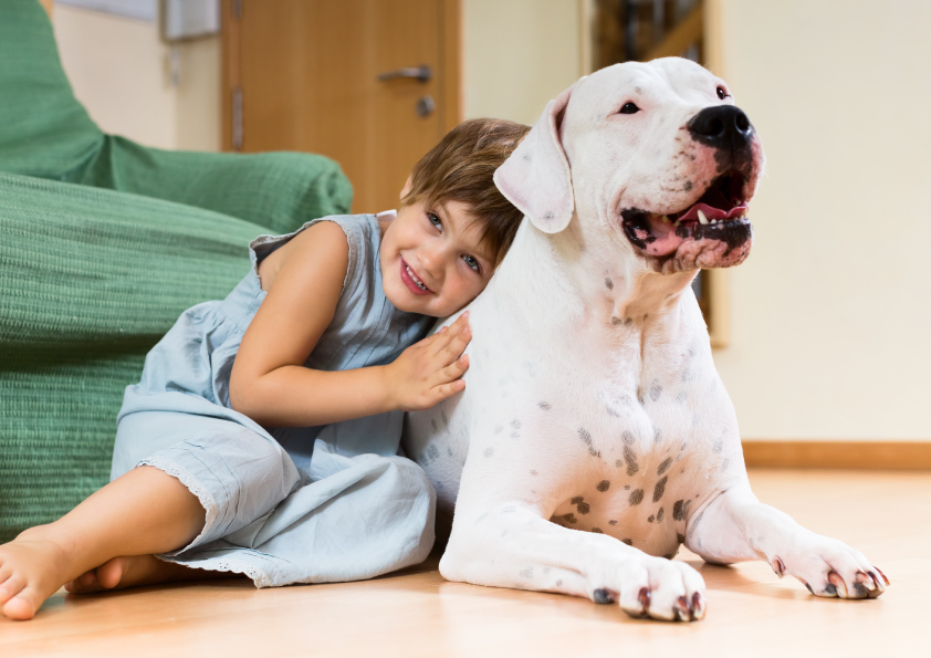 nice-girl-toddler-on-the-floor-with-dog